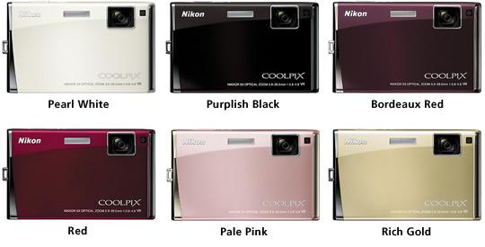 Nikon S60 Colors